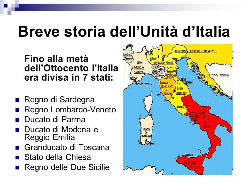 Breve storia dell'Unità d'Italia