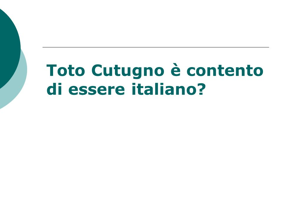 Toto Cutugno è contento di essere italiano