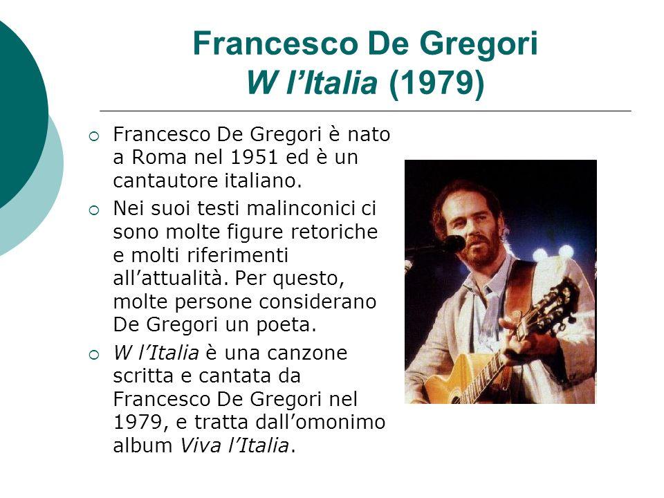 Francesco De Gregori W l'Italia (1979)