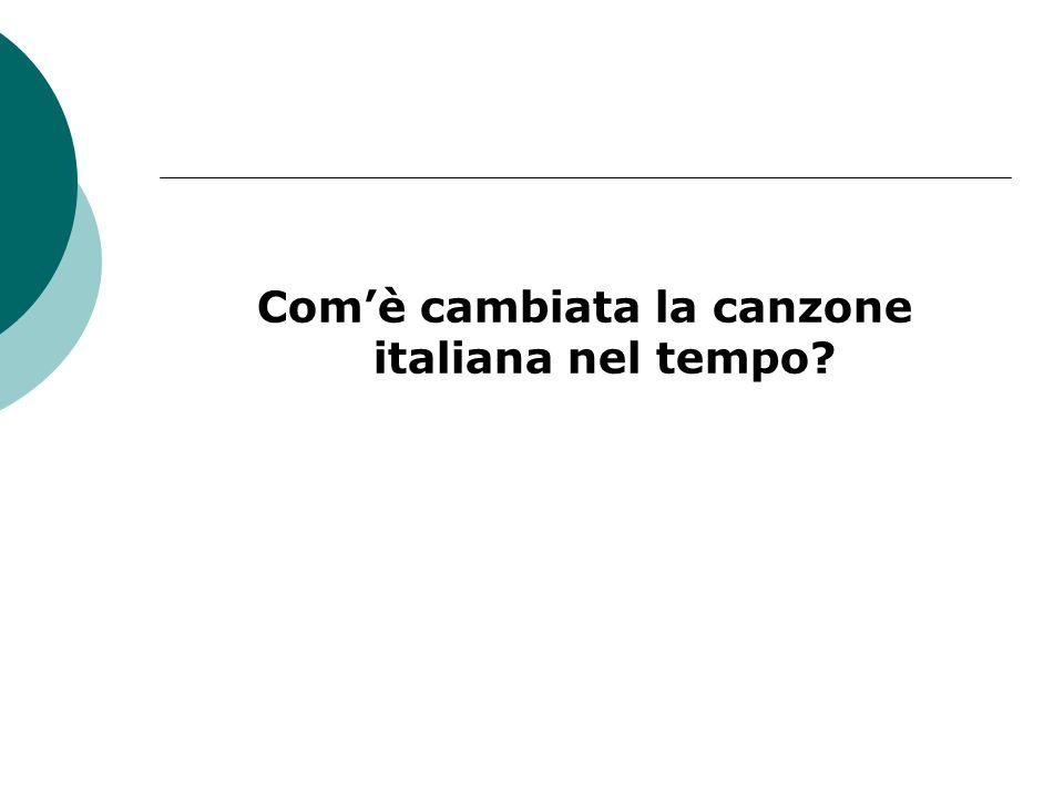 Com'è cambiata la canzone italiana nel tempo