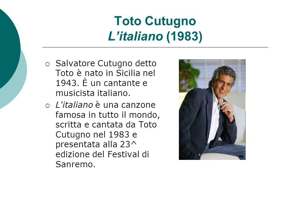 Toto Cutugno L'italiano (1983)