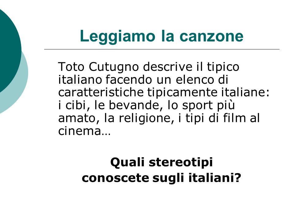 conoscete sugli italiani