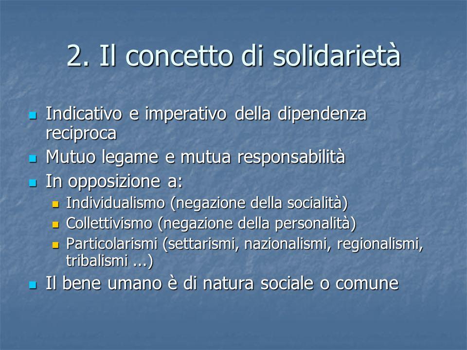 2. Il concetto di solidarietà