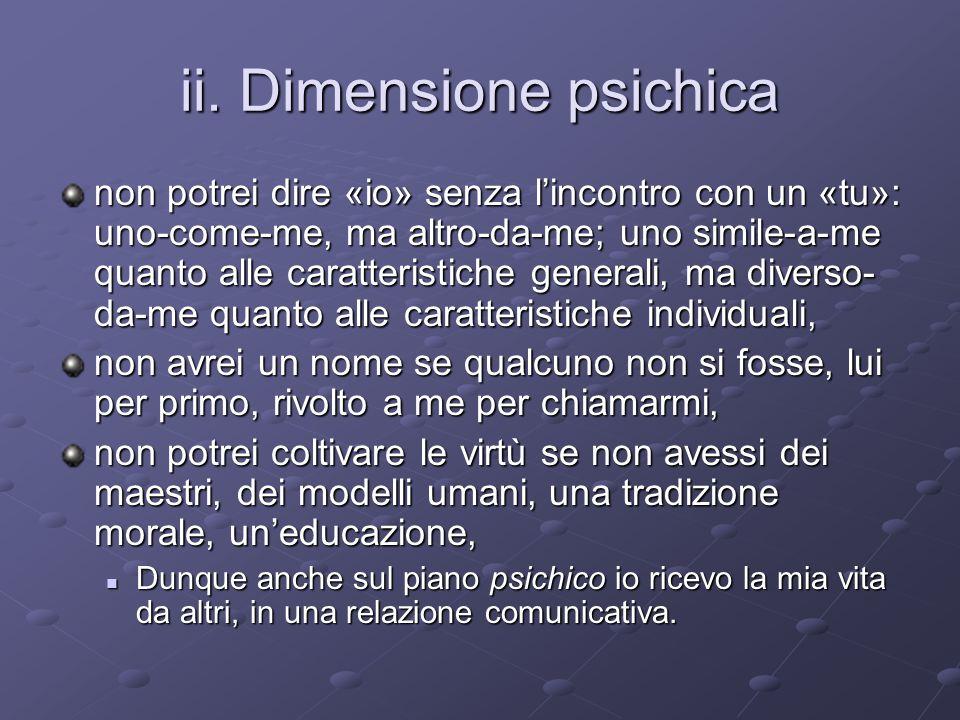 ii. Dimensione psichica