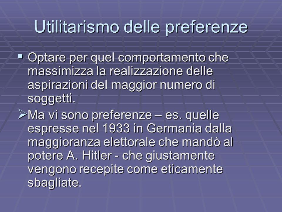Utilitarismo delle preferenze