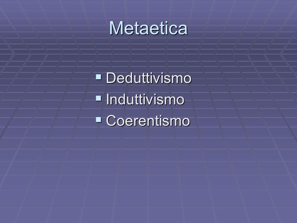Metaetica Deduttivismo Induttivismo Coerentismo