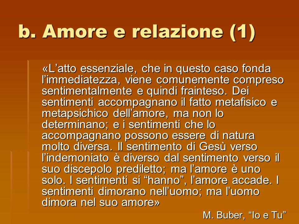b. Amore e relazione (1)