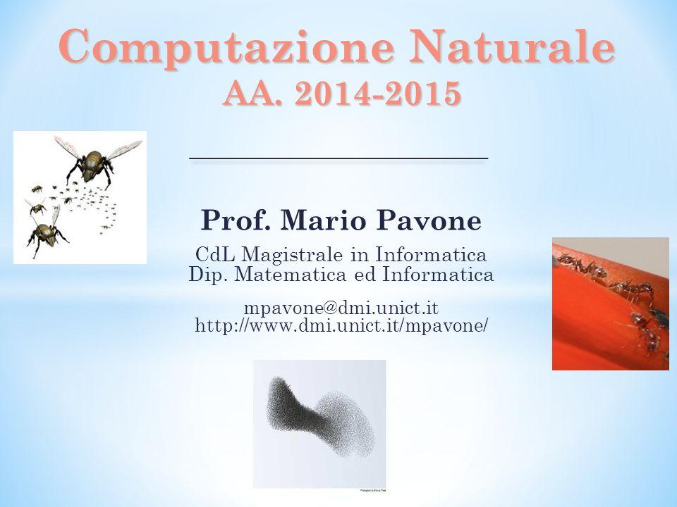 Computazione Naturale AA. 2014-2015