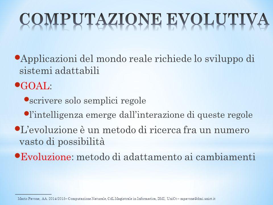 COMPUTAZIONE EVOLUTIVA