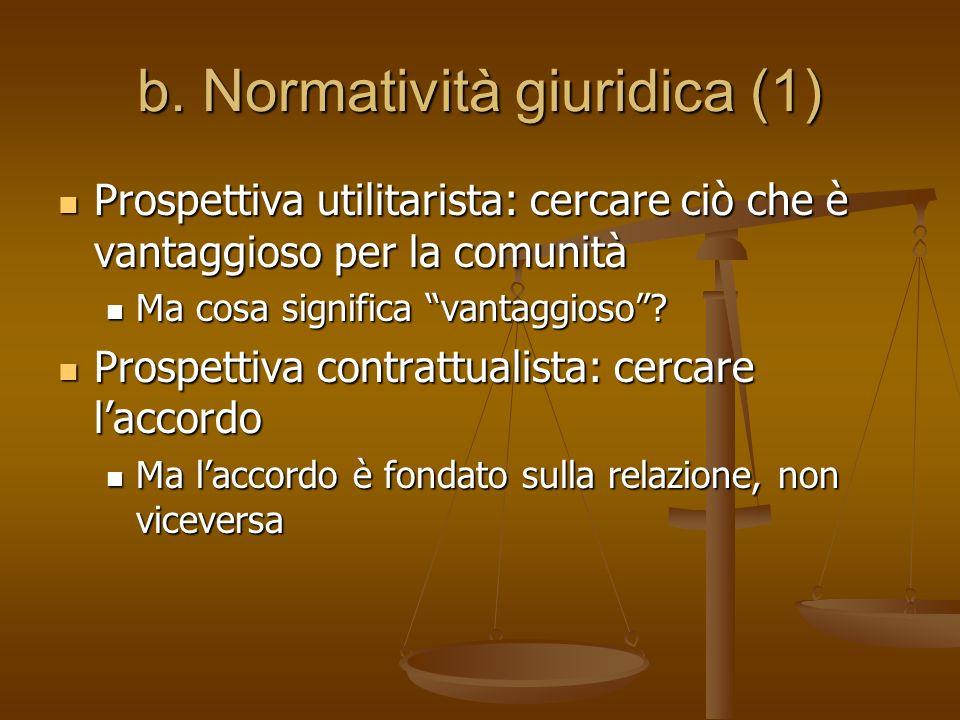b. Normatività giuridica (1)