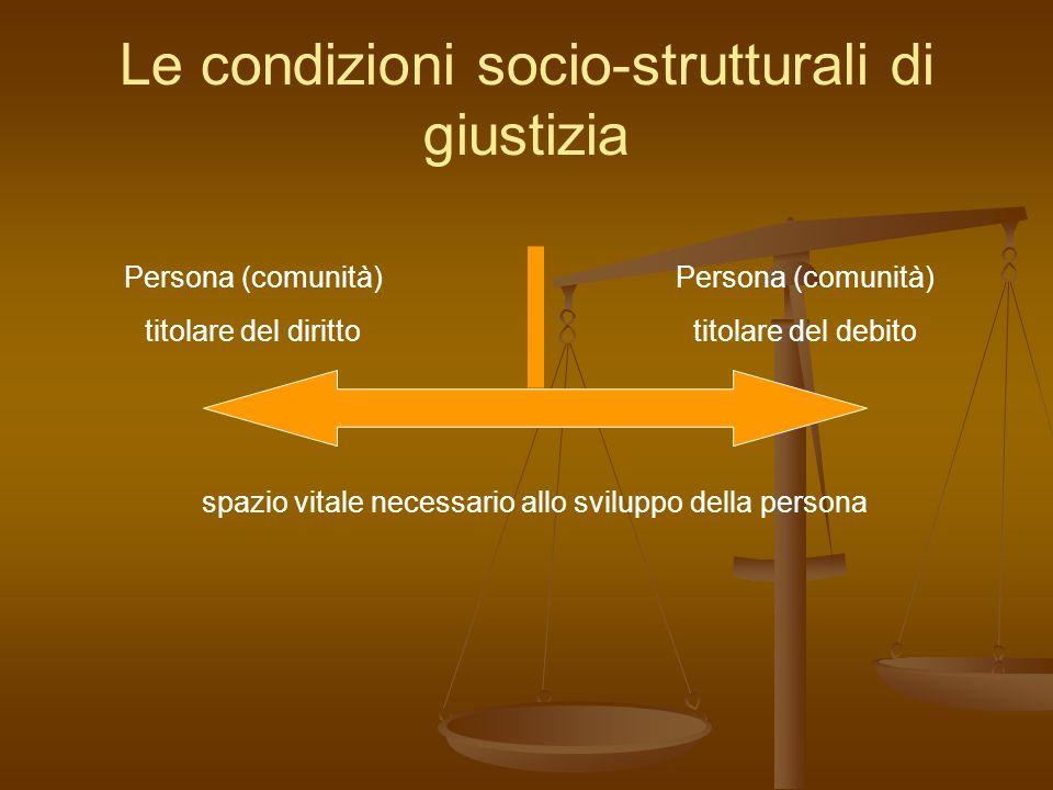 Le condizioni socio-strutturali di giustizia