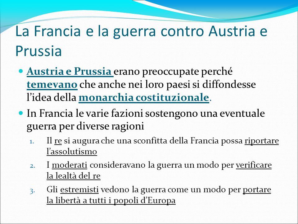 La Francia e la guerra contro Austria e Prussia