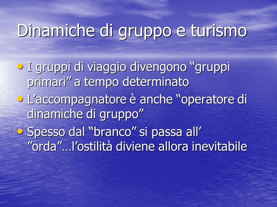 Dinamiche di gruppo e turismo