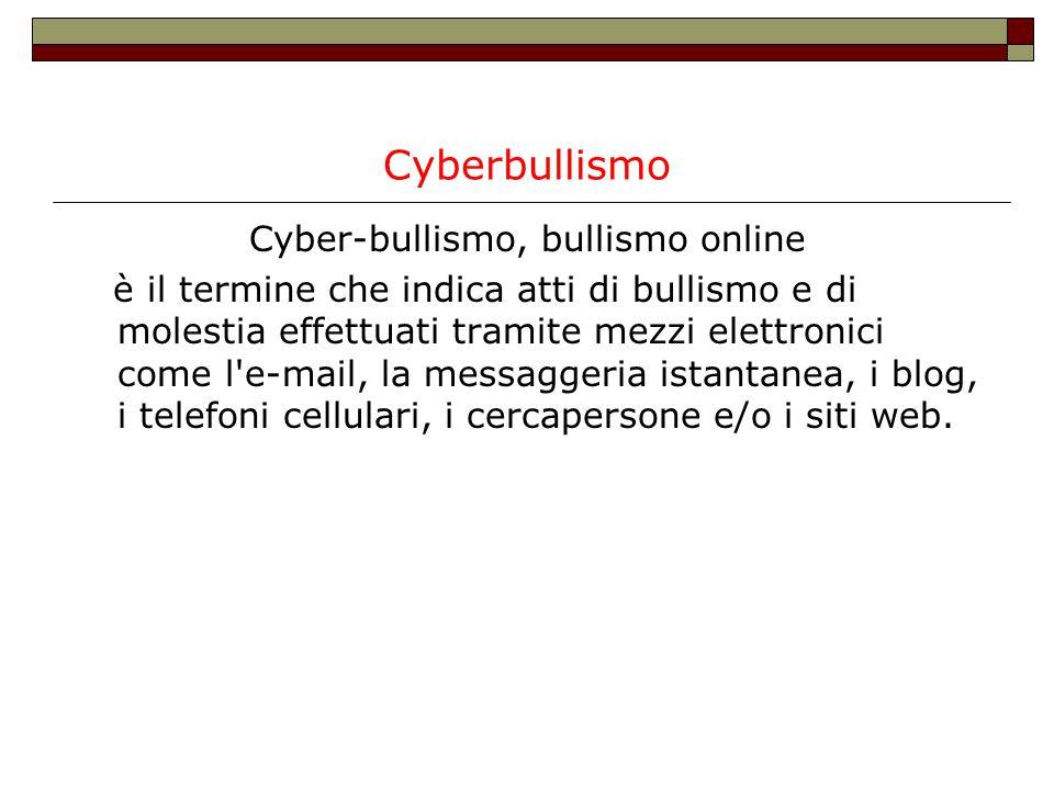 Cyber-bullismo, bullismo online