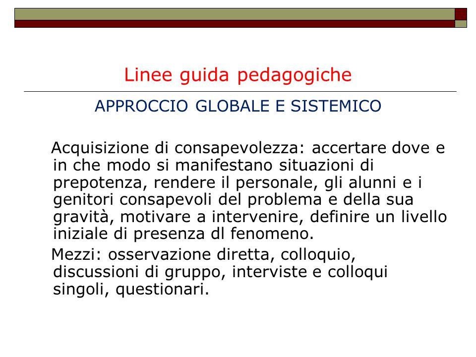 Linee guida pedagogiche