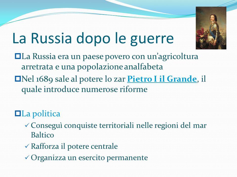 La Russia dopo le guerre