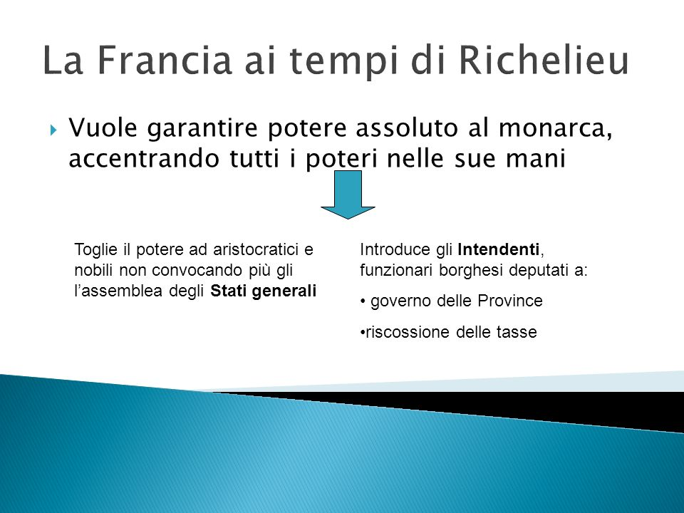 La Francia ai tempi di Richelieu