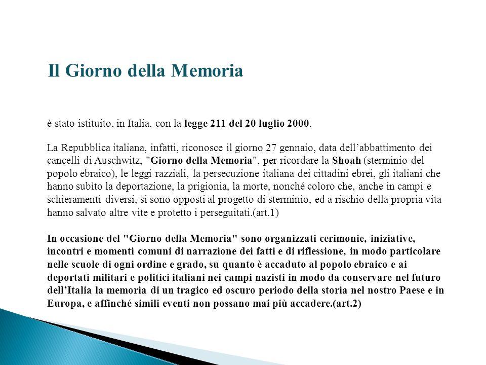 Il Giorno della Memoria
