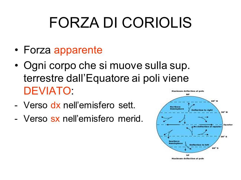 FORZA DI CORIOLIS Forza apparente