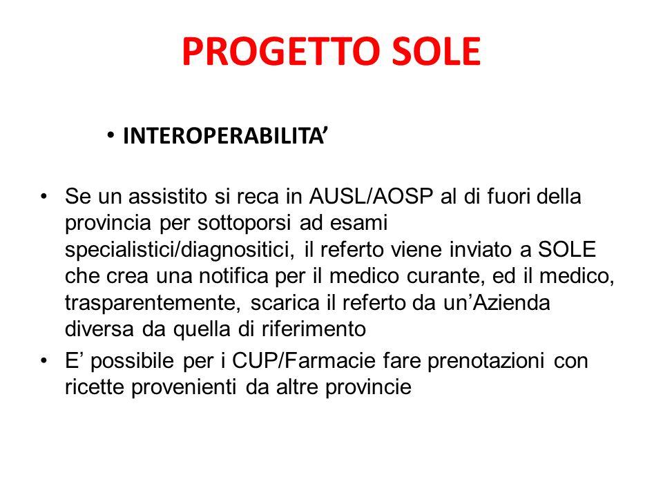 PROGETTO SOLE INTEROPERABILITA'