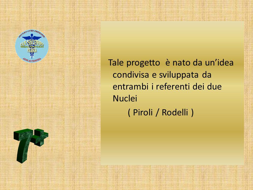 Tale progetto è nato da un'idea condivisa e sviluppata da entrambi i referenti dei due Nuclei