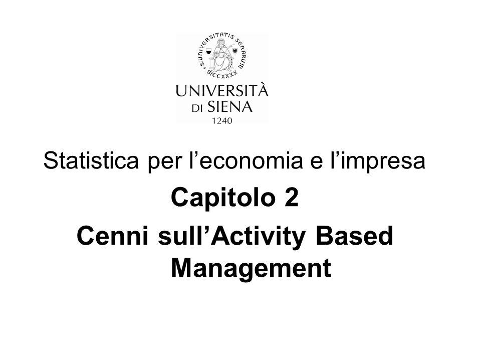 Cenni sull'Activity Based Management