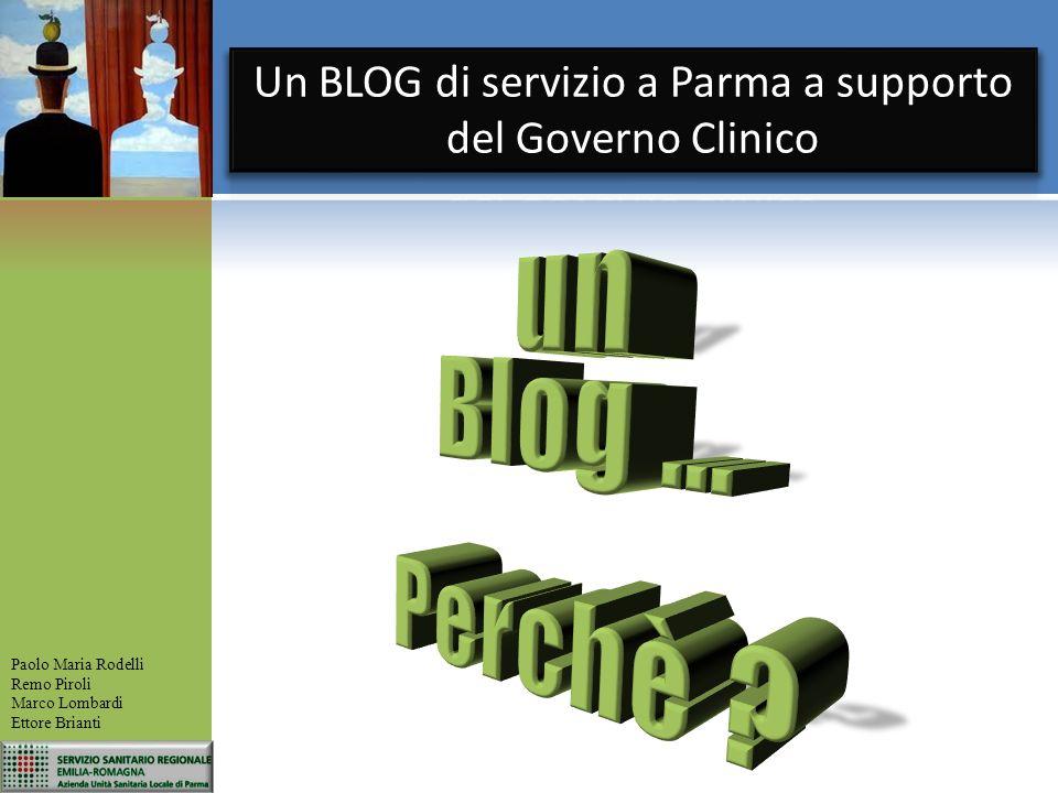 Un BLOG di servizio a Parma a supporto