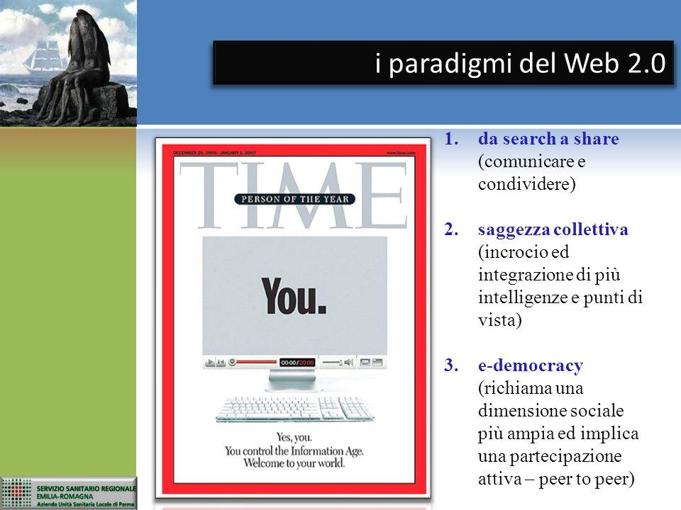 i paradigmi del Web 2.0 da search a share (comunicare e condividere)