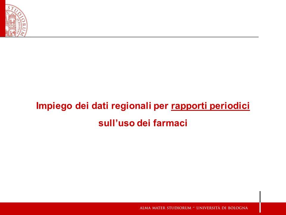 Impiego dei dati regionali per rapporti periodici sull'uso dei farmaci