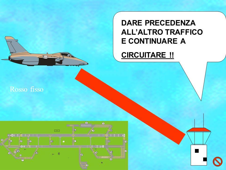 DARE PRECEDENZA ALL'ALTRO TRAFFICO E CONTINUARE A CIRCUITARE !!