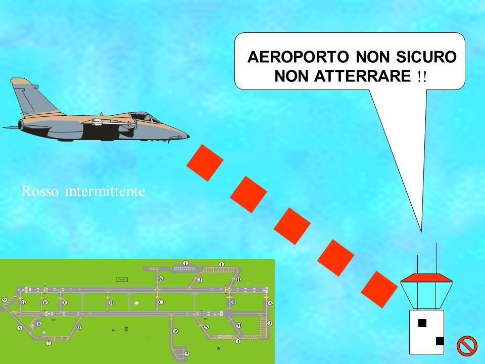 AEROPORTO NON SICURO NON ATTERRARE !! Rosso intermittente