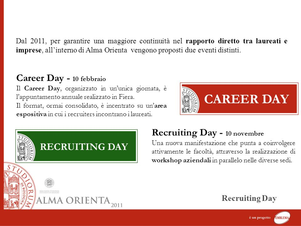 Recruiting Day - 10 novembre