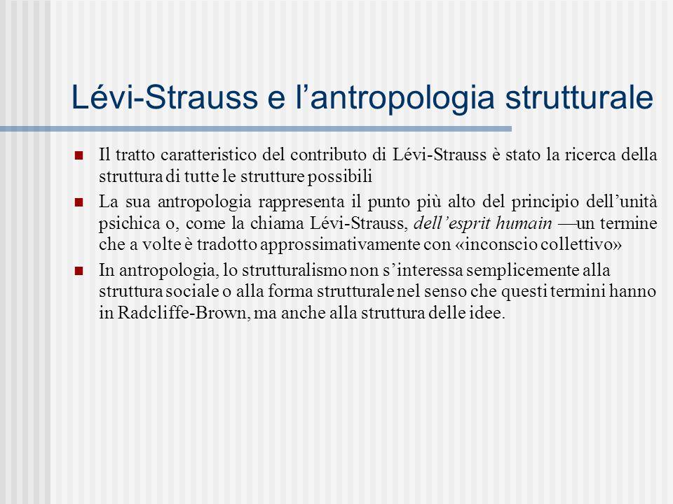 Lévi-Strauss e l'antropologia strutturale