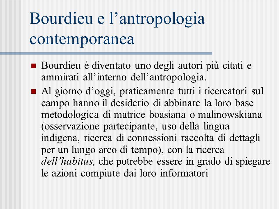 Bourdieu e l'antropologia contemporanea