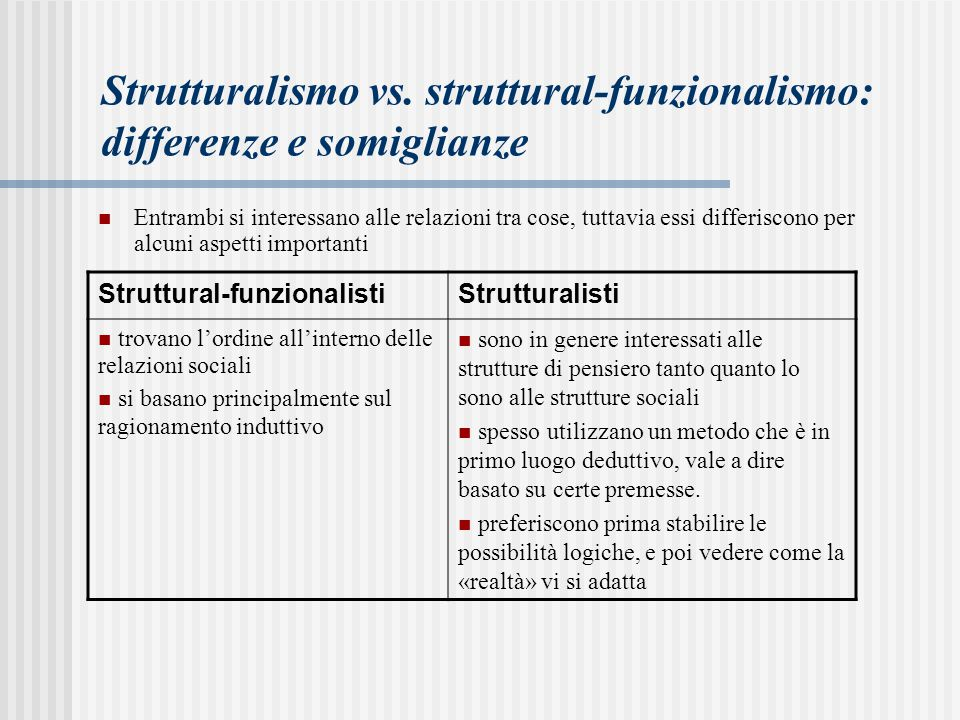 Strutturalismo vs. struttural-funzionalismo: differenze e somiglianze