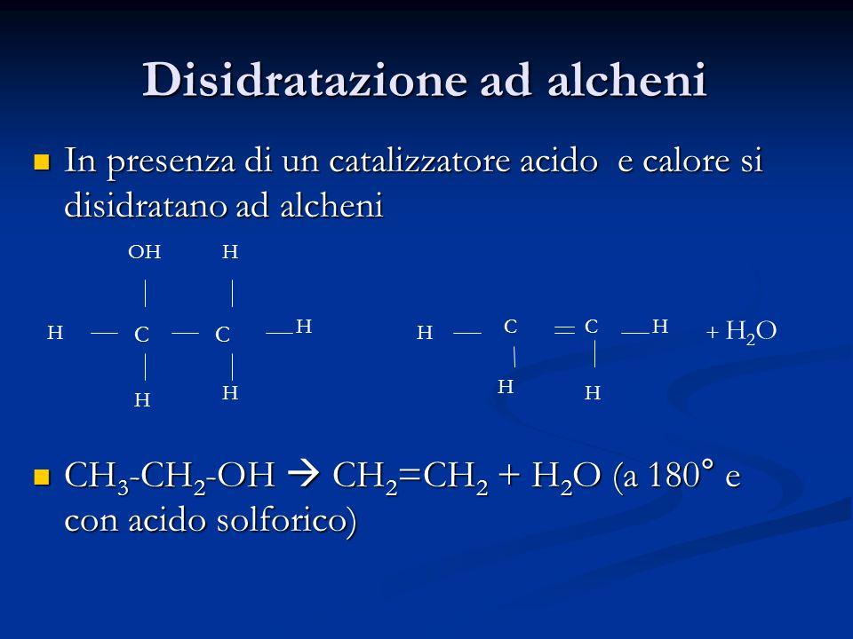 Disidratazione ad alcheni
