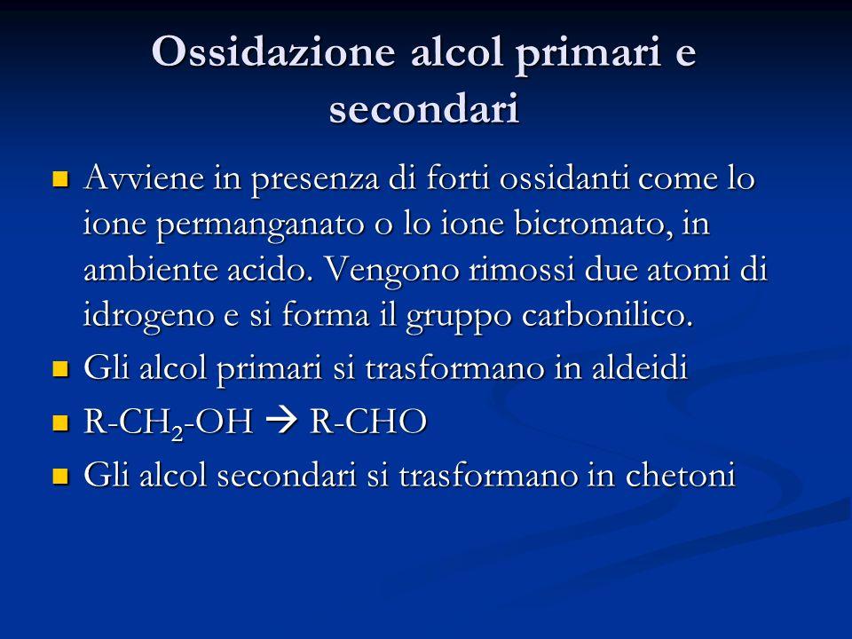 Ossidazione alcol primari e secondari