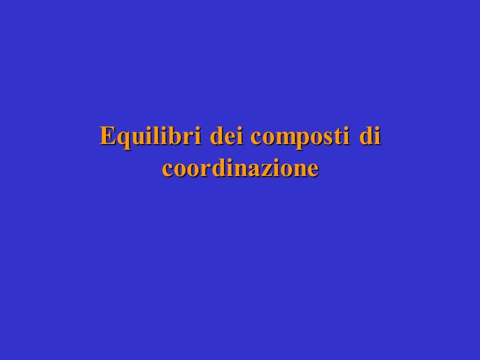 Equilibri dei composti di coordinazione