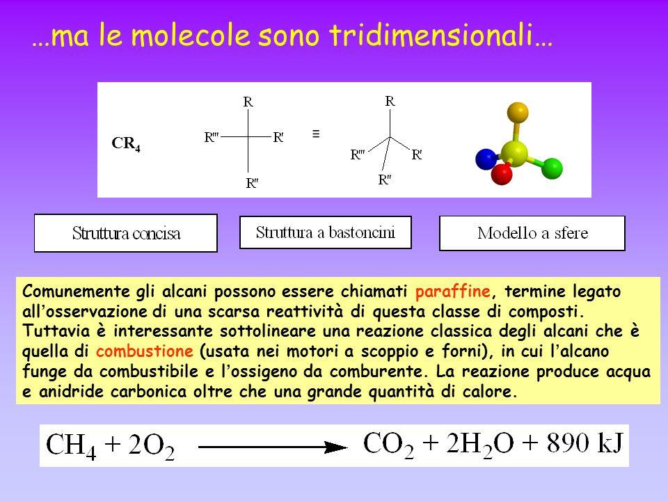 …ma le molecole sono tridimensionali…