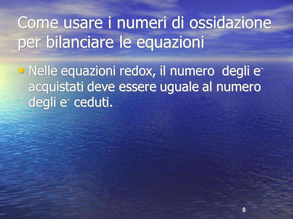Come usare i numeri di ossidazione per bilanciare le equazioni