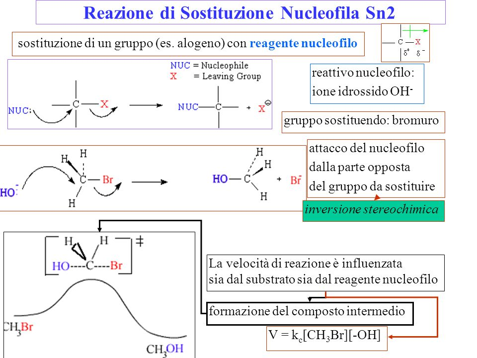 Reazione di Sostituzione Nucleofila Sn2