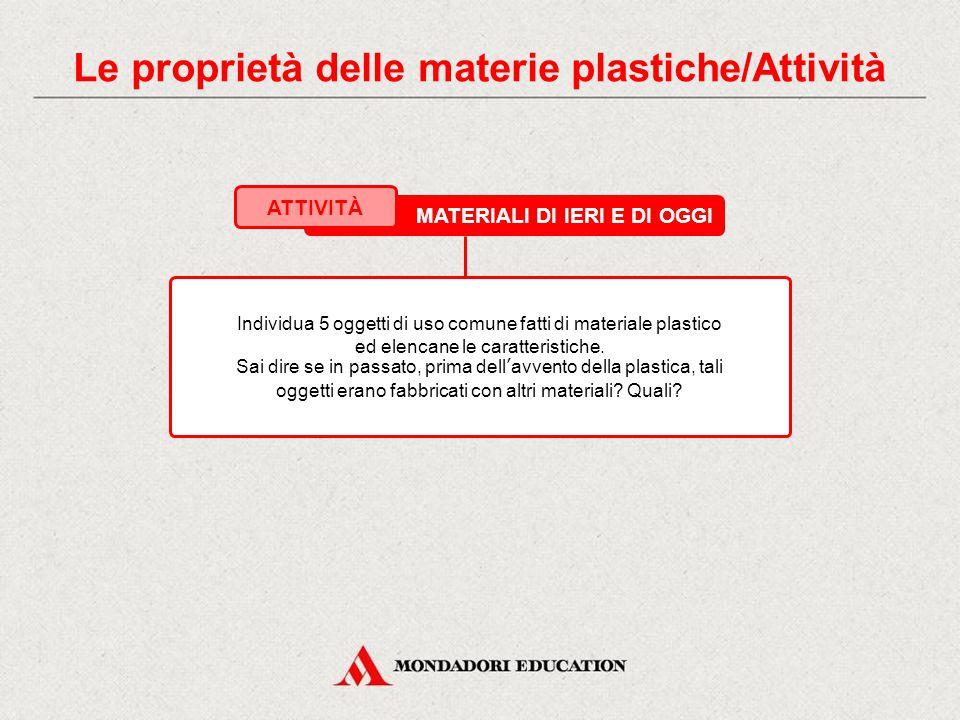 Le proprietà delle materie plastiche/Attività
