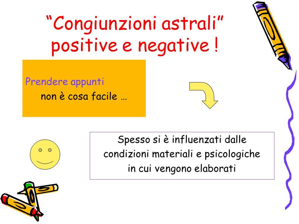 Congiunzioni astrali positive e negative !