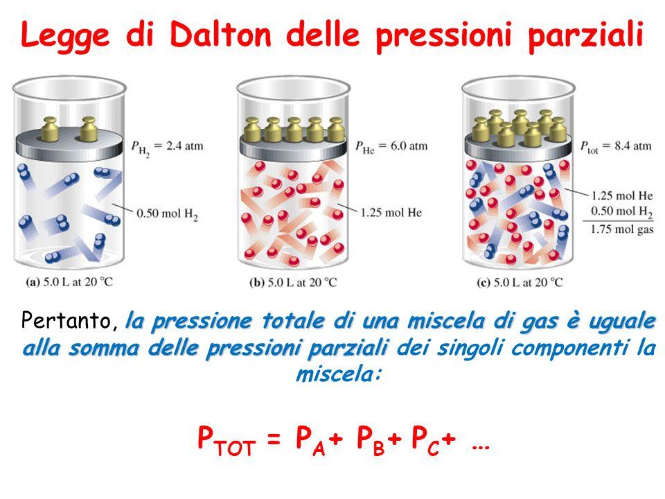 Legge di Dalton delle pressioni parziali