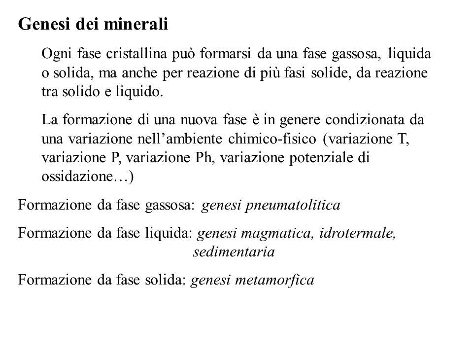 Genesi dei minerali