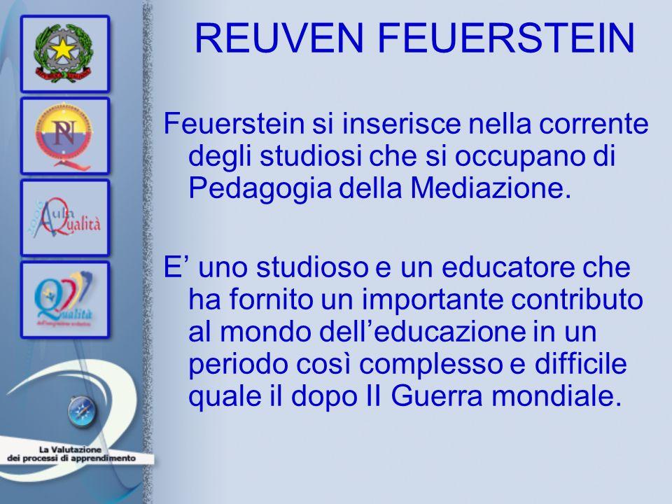 REUVEN FEUERSTEINFeuerstein si inserisce nella corrente degli studiosi che si occupano di Pedagogia della Mediazione.