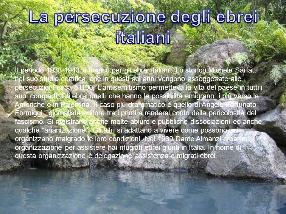 La persecuzione degli ebrei italiani