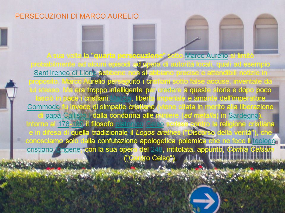 PERSECUZIONI DI MARCO AURELIO