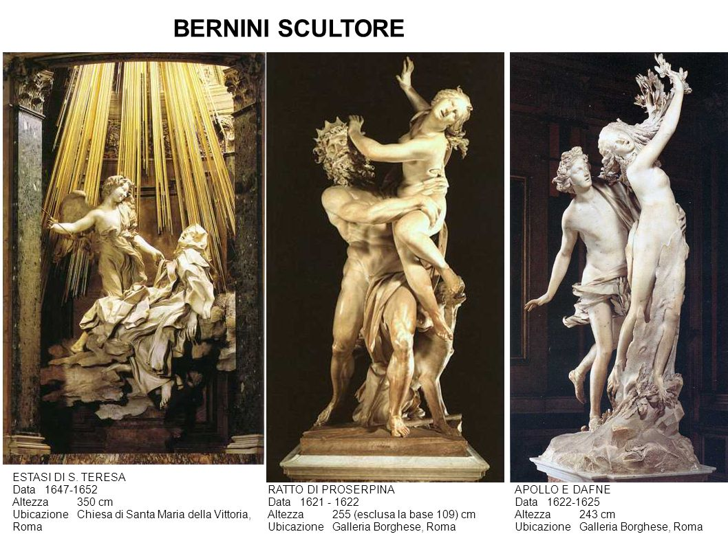 BERNINI SCULTORE ESTASI DI S. TERESA Data 1647-1652 Altezza 350 cm