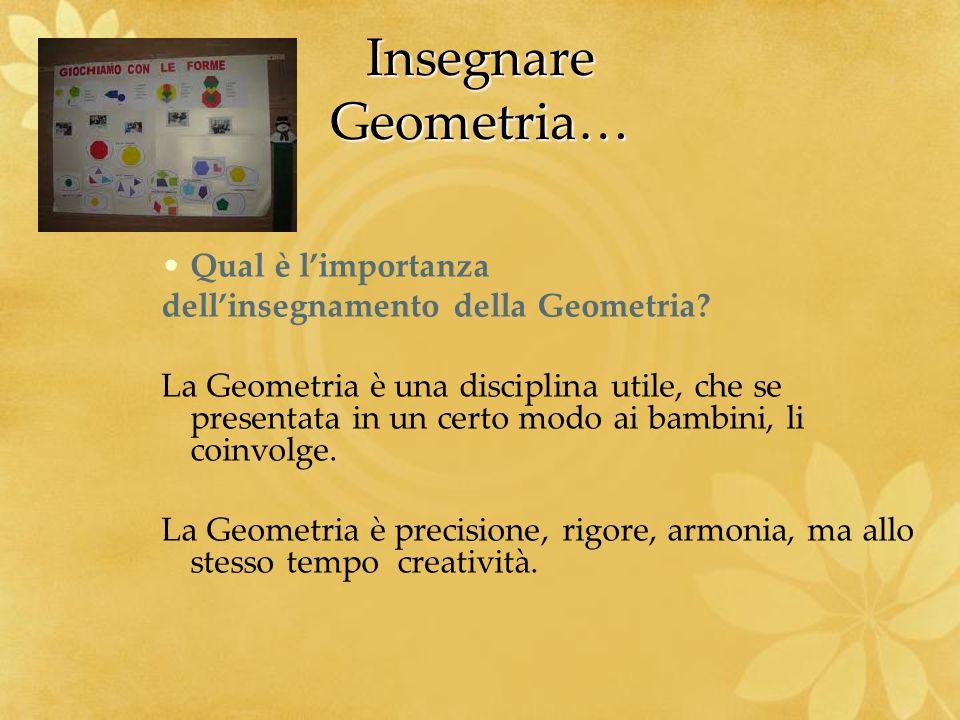 Insegnare Geometria… Qual è l'importanza